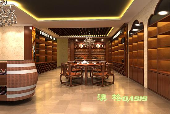 红酒专卖店户型设计效果图-办公商铺装修-猪八