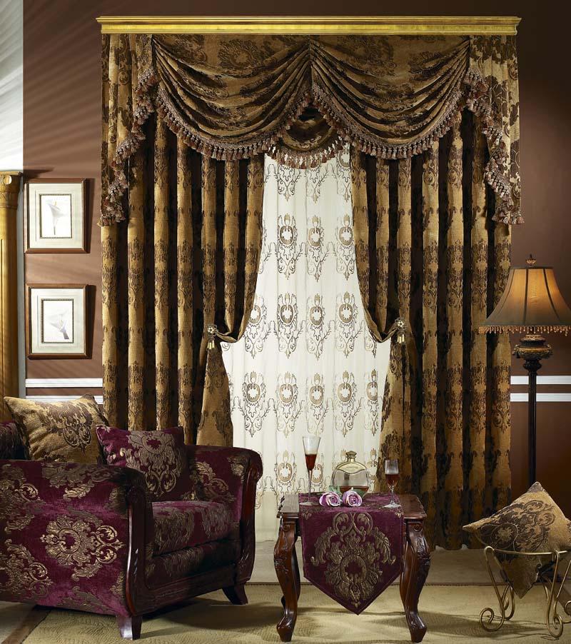 2015流行欧式窗帘图片