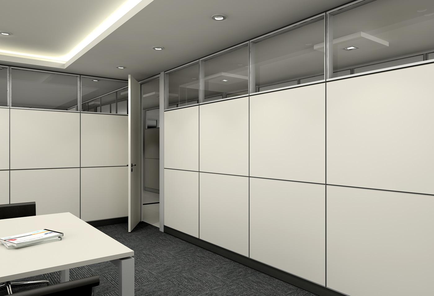 重庆铝合金进玻璃隔断成品办公隔断办公室装修
