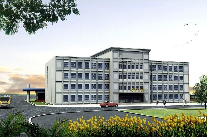 供应厂房办公楼效果图设计,厂区办公楼效果图设高清图片