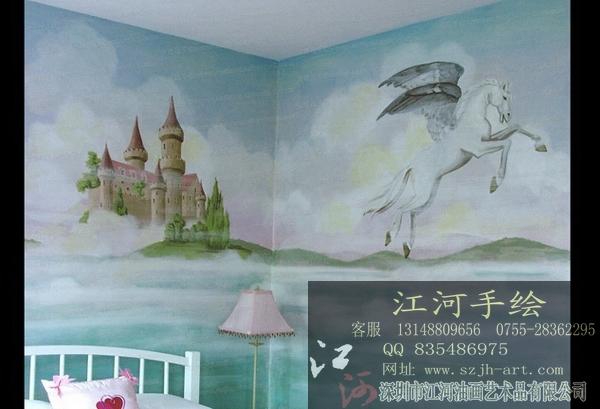 供应深圳江河家居手绘墙绘壁画服务周到