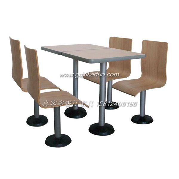 分体快餐店桌椅 快餐厅桌椅 不锈钢快餐桌椅 广州市喜客多