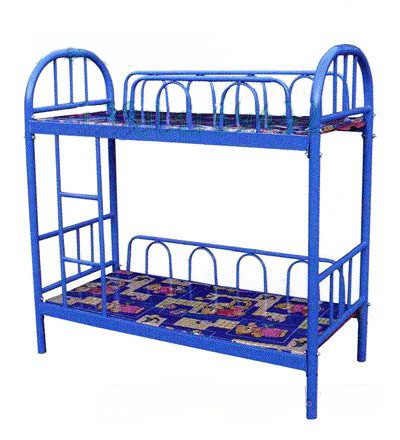 双层床_三层幼儿床_家具铁质床_石家庄冀虎幼儿实木家具中式床图片