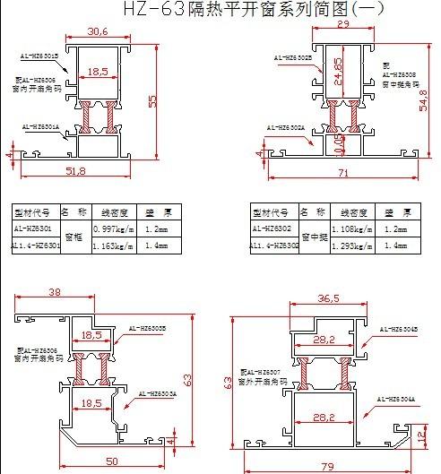 报价厂家门窗铝断桥|孤岛供应|CAD装配图cad在的规格哪里图片
