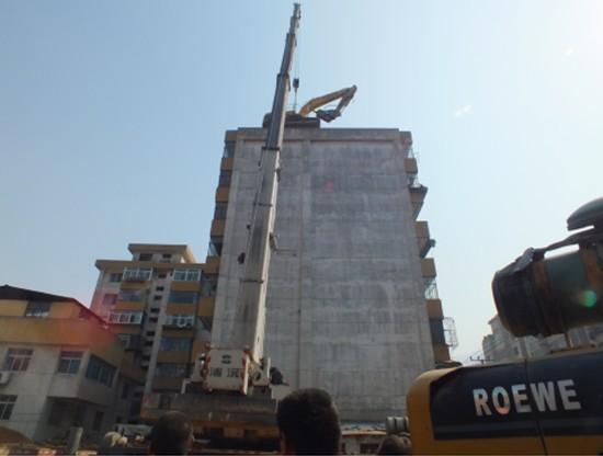 國英承接甘肅蘭州機械化房屋拆除 高大建筑物拆除工程